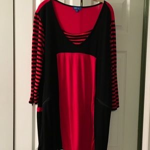 Tops - Red/Black Tunic